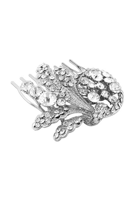 Vintage Wedding Hair Slides Uk by Vintage Style Hair Comb Silver Hair