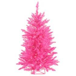 hot pink pink artificial christmas trees