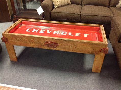 chevy home decor chevrolet tailgate coffee table home decorating diy