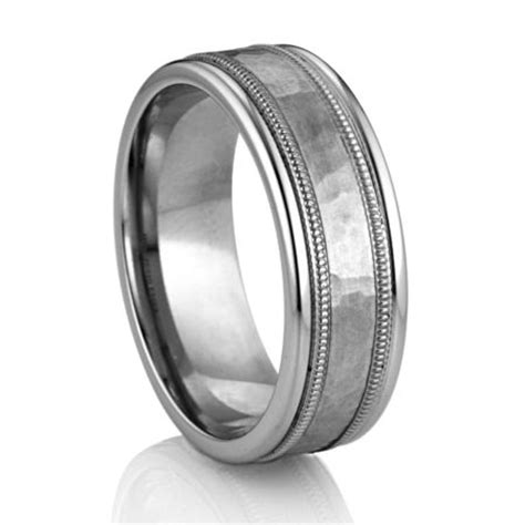 platinum inlay palladium band diana classic mens wedding bands