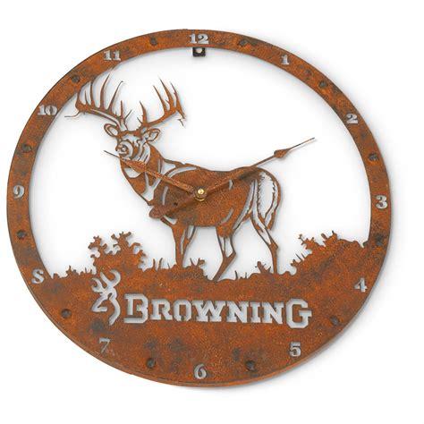 browning 174 metal wall clock 620627 clocks at sportsman s