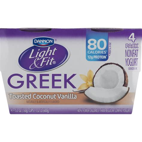 light and fit yogurt nutrition dannon light and fit greek toasted coconut vanilla
