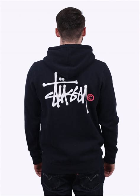 Grosir Basic Jacket Hoodie Unisex With Zipper In 16 Colour stussy basic logo zip hoody navy stussy from triads uk