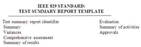 Ieee 829 Standard Test Summary Report Template What Is Test Status Report And How To Report Test Status