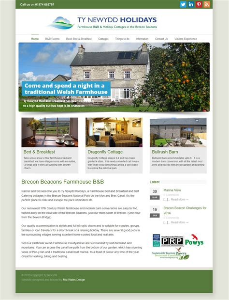 cottage websites brecon beacons farmhouse b b and self catering cottage