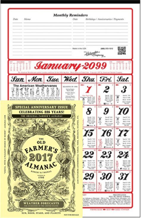 Almanac Calendar 2018 Almanac Calendar And Farmer S Almanac Book A11of
