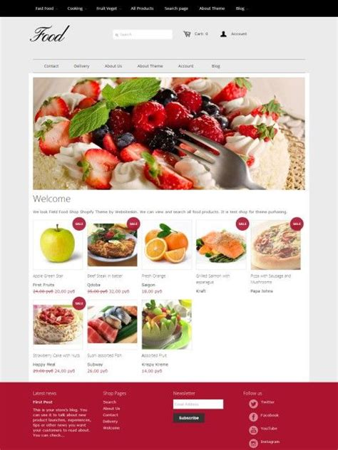 shopify themes food 1000 images about shopify themes on pinterest white