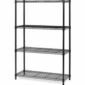 seville classics 4 tier heavy duty wire shelving system