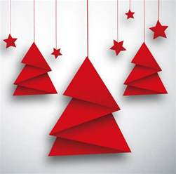 Origami Chrismas - origami tree and card vector free