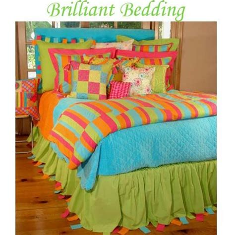 orange and lime green bedding 3714