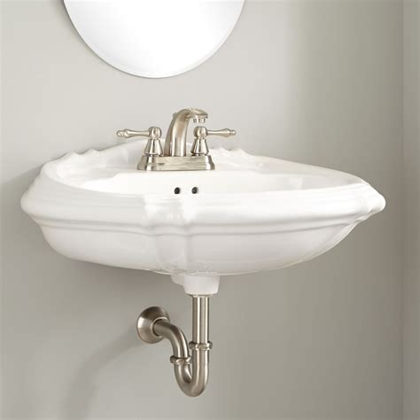 Restroom Sinks by Amias Porcelain Wall Mount Bathroom Sink Wall Mount