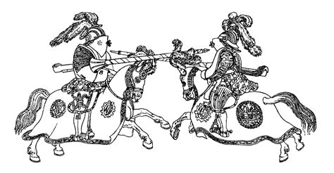 Galerry coloring pages knights jousting