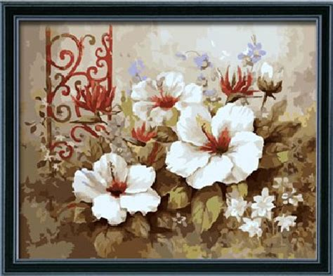 bnl fiori flower paint by number kits paint by number for adults