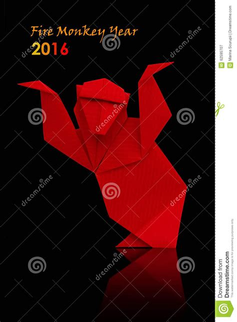 new year monkey origami new year monkey stock illustration image 62595707