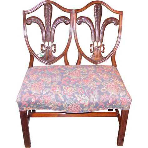double settee english georgian mahogany double chair back settee circa