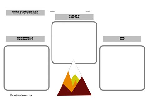 story mountain worksheet wiildcreative