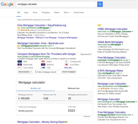 Mortgage Lookup Continuing To Test 4 Text Ads In Search Results