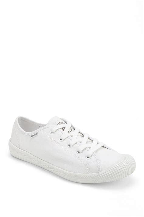 palladium flex laceup sneaker in white lyst