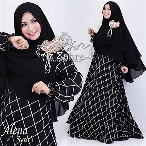 Dres Gamis Maxy Maxmara Busui Umbrella baju gamis alena monokrome a070 model busana muslim terbaru