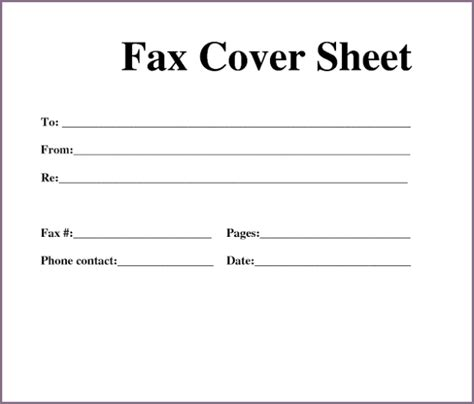 fax cover sheet free printable fax cover sheet template pdf word