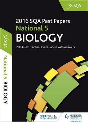 libro national 5 biology student national 5 biology 2016 17 sqa past papers with answers by sqa waterstones