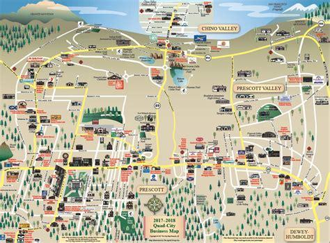 map of prescott az prescott arizona everybody s home town point of rocks