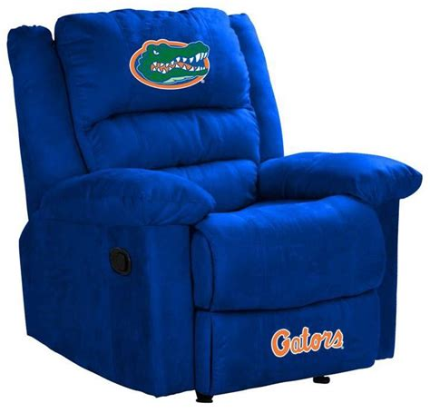 sports recliner chairs sports chairs university of florida embroidered logo team