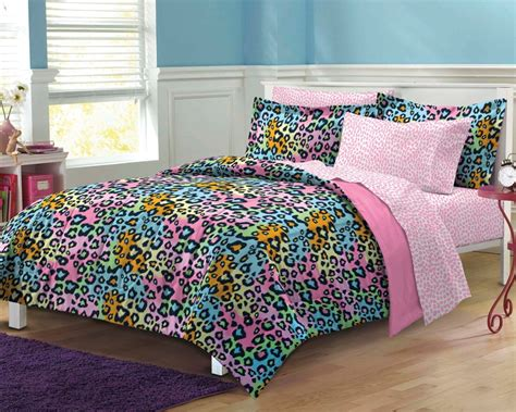 teenage girl comforter new neon leopard teen girls bedding comforter sheet set ebay