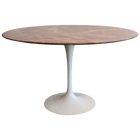 Tulip Desk L saarinen marble tulip dining table at 1stdibs