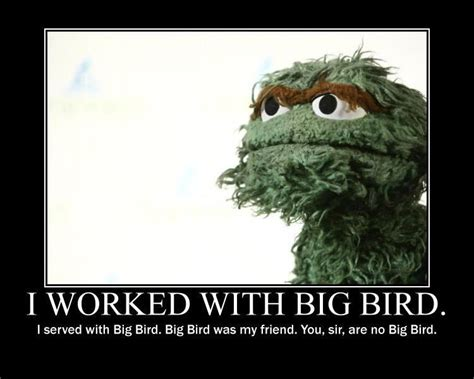 Oscar The Grouch Meme - ncfe mittens and big bird