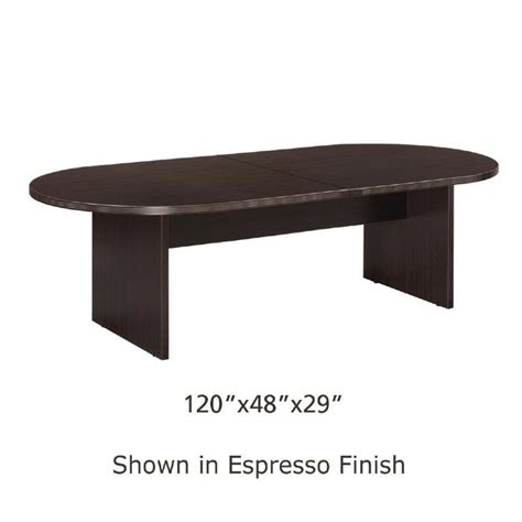 10 x 4 conference table 10ft x 4ft racetrack conference table espresso