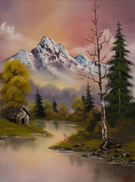 bob ross paintings auction bob ross paintings for sale bob ross evenings delight