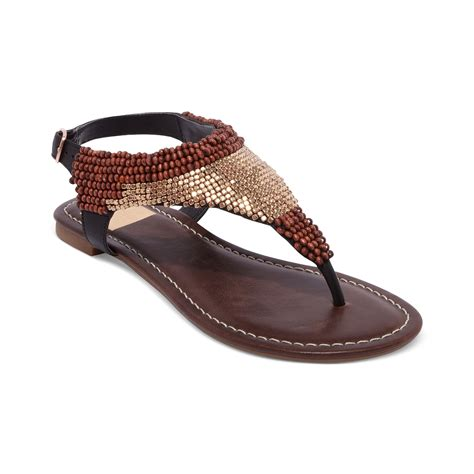 beaded sandal dolce vita delancey beaded flat sandals in brown