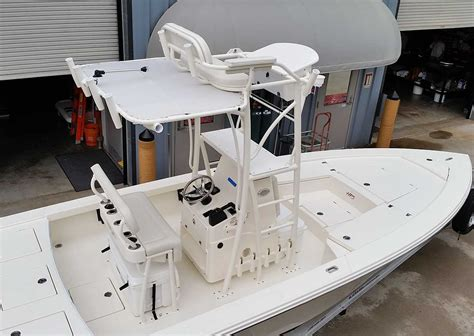 boat tower control station custom flats boat and bay boat towers by action welding
