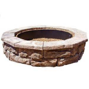 Firepit Kit Fossill 60 In Concrete Brown Pit Kit Fsfpb The Home Depot