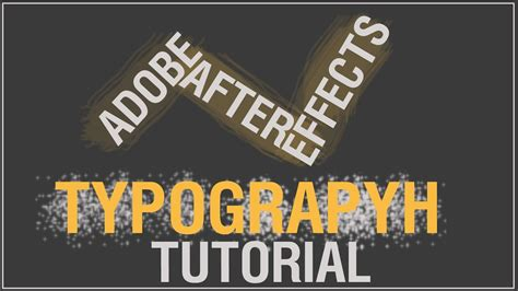 tutorial typography after effects after effects cool typography tutorial youtube
