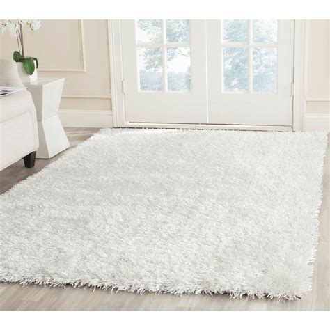 white plush area rug safavieh new orleans shag white 5 ft x 8 ft area rug
