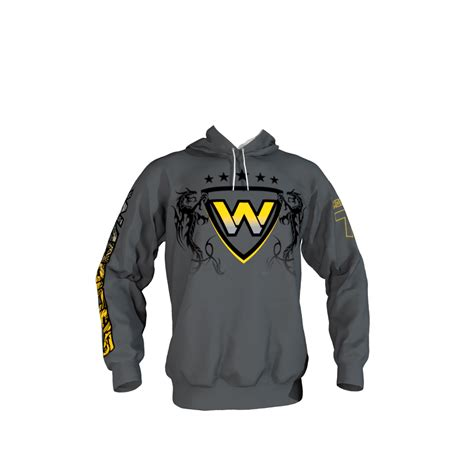 design your own hockey hoodie warriors gray hoodie sublimation kings