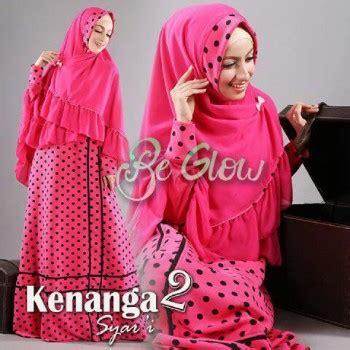 kenanga 2 pink baju muslim gamis modern