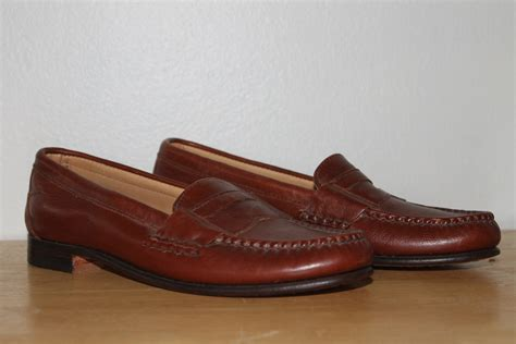 brown loafers womens vintage maine shoe brown leather loafers womens size 8