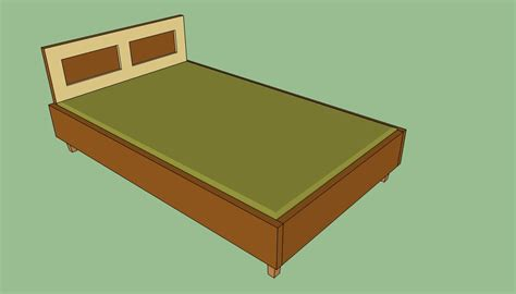 Wooden Queen Bed Frame Plans Howtospecialist How To Wooden Bed Frames Plans