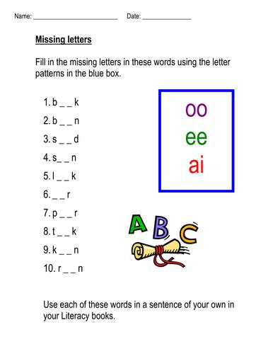 ai spelling pattern phonic homework resources oo ee ai ir ay by coreenburt