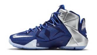 Nike lebron 12 deep royal blue metallic silver lyon blue