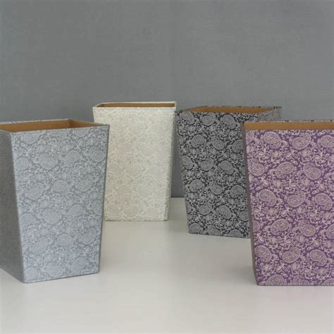 waste paper bins recycled paisley waste paper bin large by parcel