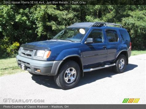 2001 nissan xterra se just blue metallic 2001 nissan xterra se v6 4x4 dusk gray interior gtcarlot com vehicle