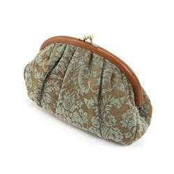 Johnny Rosie Jacquard Print Bag mojolondon johnny rosie green jacquard leather