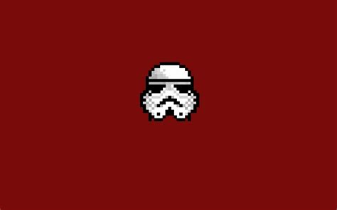Minimalist Computer by Stormtrooper Star Wars 8 Bit Pixel Art Minimalism