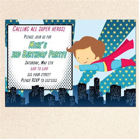 Superman Baby Shower Invitations by Printable Superman Birthday Baby Shower