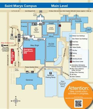 mayo clinic floor plan hours and locations minnesota patient and visitor guide