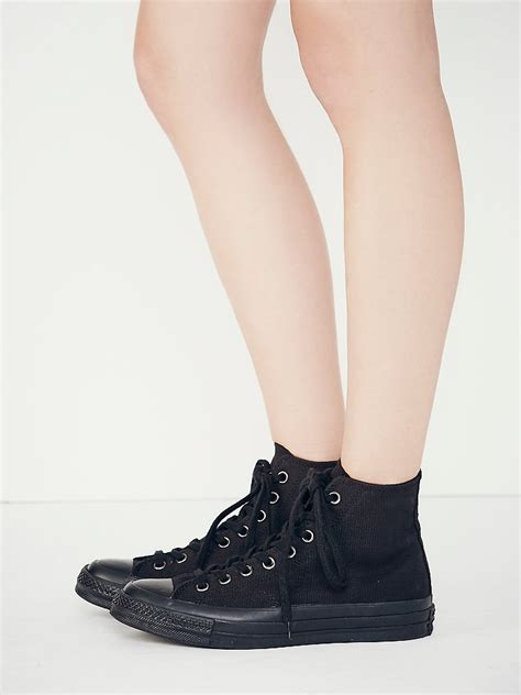 Monochrome Tops lyst converse monochrome hi tops in black